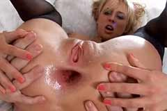 Sexy Blonde Mandy Dee Anal Gaping Sex